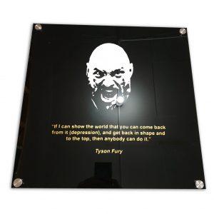 Tyson Fury Acrylic Sign