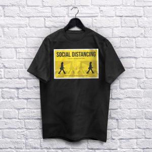Social Distancing Black T-shirt